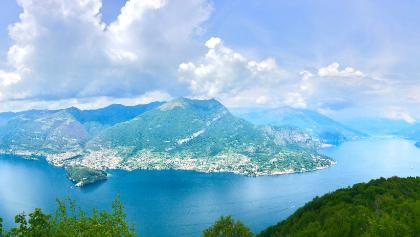 Ausblick kurz vor dem Ziel Bellagio