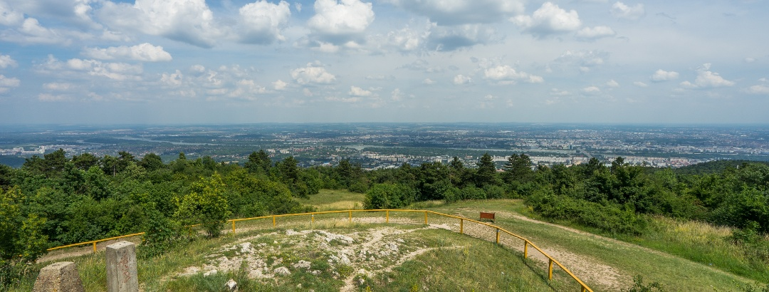 The view over Budapest from Guckler Károly lookout tower