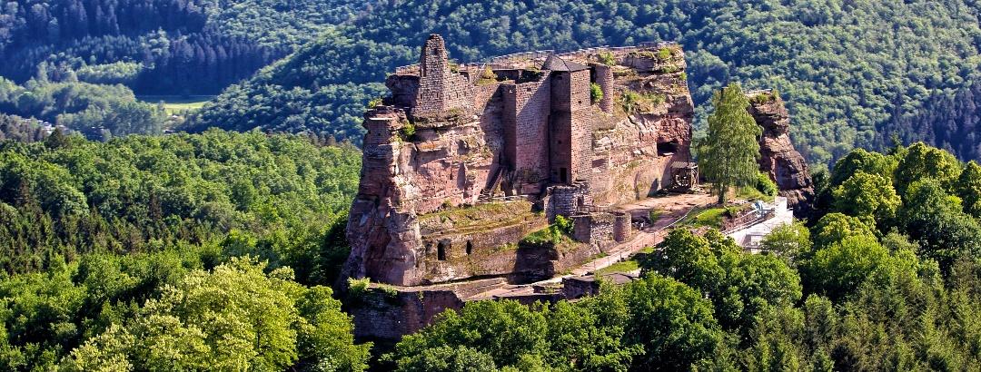 Luftaufnahme Burg Fleckenstein/Nordelsass