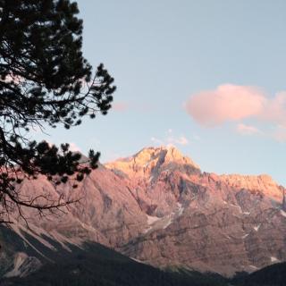 Zugspitze at sunset