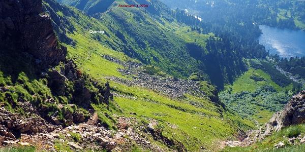 Querung zur Roten Rinne, 2165m Ausstieg