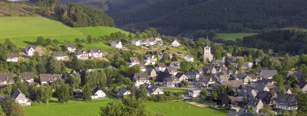 Blick auf Fleckenberg im Schmallenberger Sauerland