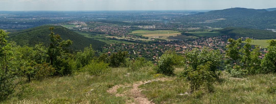 Budapest felé a Nagy-Kevélyről
