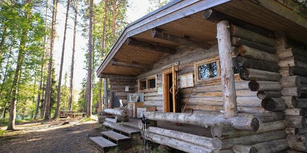 Jussinkämppä open wilderness hut in Oulanka National Park