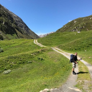 Ascending the Rofental (valley)