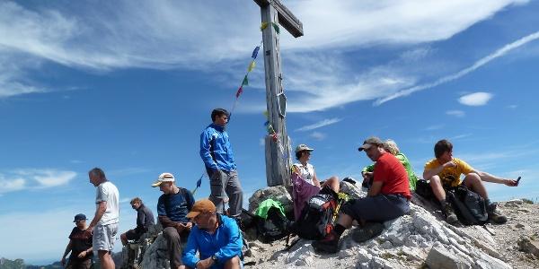 Am Gipfel der Lachenspitze