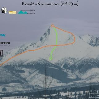Krivan Skialp Topo-Übersichtsbild