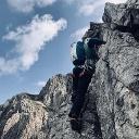 Schlüsselstelle vom Südgrat der Südlichen Fuchskarspitze (III-)