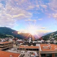 Blick vom Hotel Eden in Ilanz