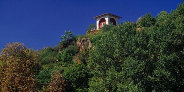 Aussichtspunkt Teetempel auf dem Kauzenberg über dem Kurgebiet Bad Kreuznach