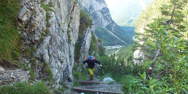 Through the Val Perse to Bocca di Tuckett