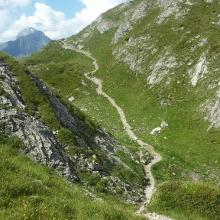 Weg über den Koblatpass