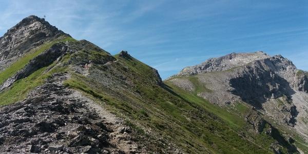 Vom Spitz zum Augstenberg, rechts Silberhorn.