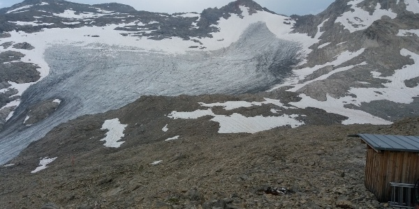 Brandner Gletscher, Schaflochsattel auf Weg zu Wildberg.