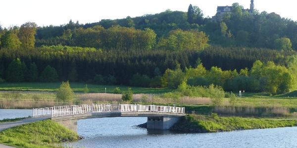 Goldbergsee Coburg mit Blick auf Schloss Callenberg
