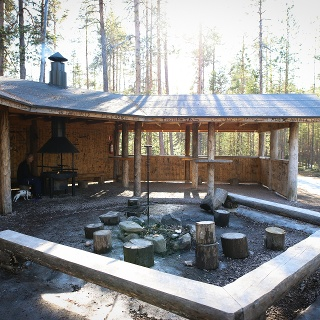 Kiutaköngäs grilling & picnic area in Oulanka National Park
