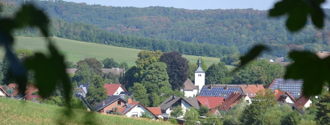 Ausblick auf das Amseldorf Merlsheim