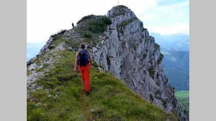 Nuaracher Höhenweg vor dem Ulrichshorn