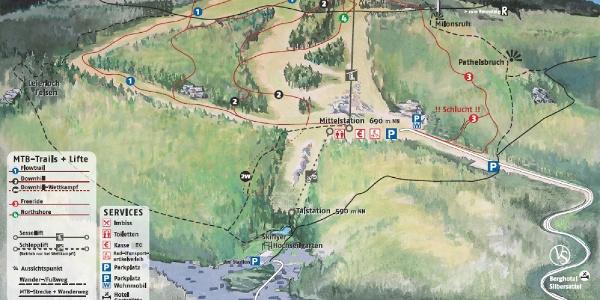 Trailplan   Rennsteig Bikearena Steinach