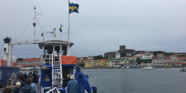 Boarding the ferry to Marstrand Island.