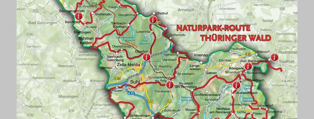 Thüringer Wald Karte.Aktivregion Rennsteig Tourenportal Thüringer Wald