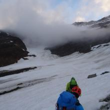 Gletscherbecken (viel dürfte vom Gletscher nicht mehr übrig sein)
