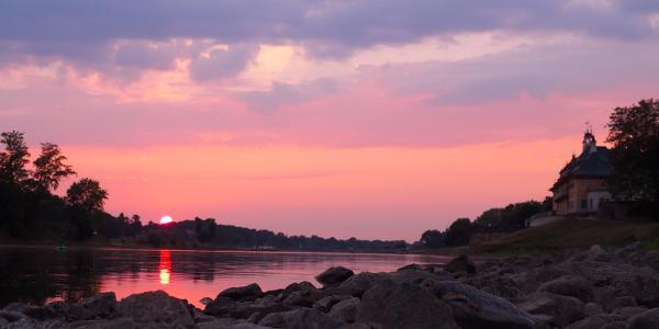 Sonnenuntergang Pillnitz