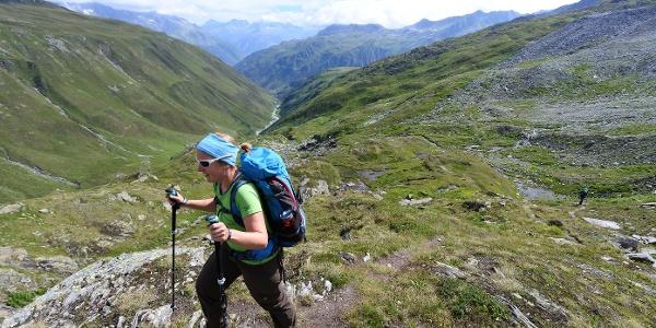 Wunderschöne Aussichten mitten in den Hochalpen rund um die Rotondohütte.