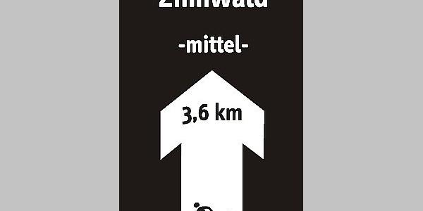 Schild Skiwanderweg Zinnwald