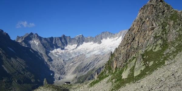 Wunderschöne Sicht zurück zur Bergseehütte