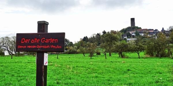 Blick auf die Burg Vetzberg