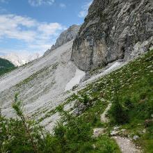 Passage am Nordhang des Mala Mojstrovka