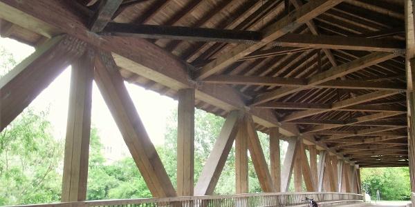 Brücke zur Ketscher Rheininsel