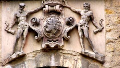 Wappen an Burgscheidungen