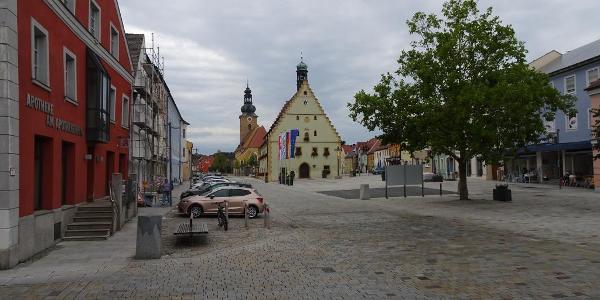Start in Hirschau am Marktplatz