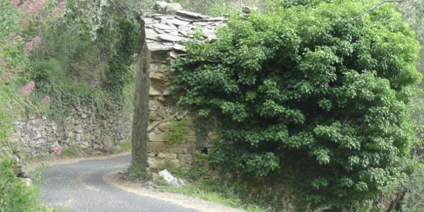 Verwunsche Hütte auf dem Rückweg nach Santa Brigida.