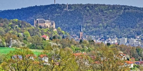 Blick auf Marburg mit Schloß