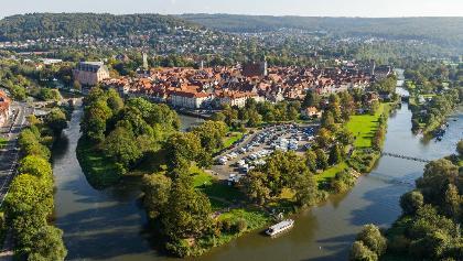 Hann. Münden - Zusammenfluss von Werra und Fulda zur Weser
