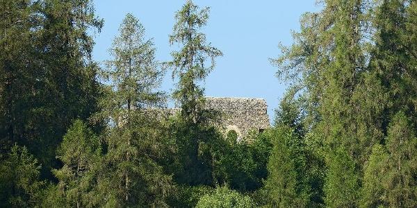 Ruine Frauenberg in Ruschein.