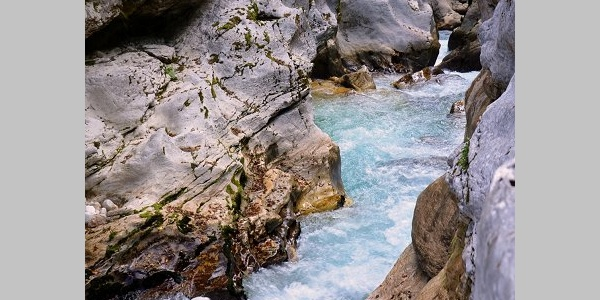 The Great Soča gorge, Bovec