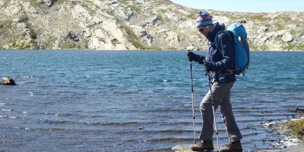 Passo Cristallina hinter dem Lago Retico