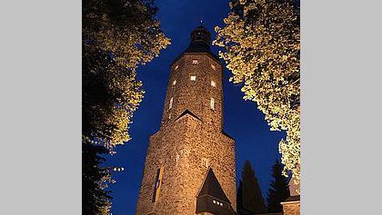 Kostel v Geyeru v noci