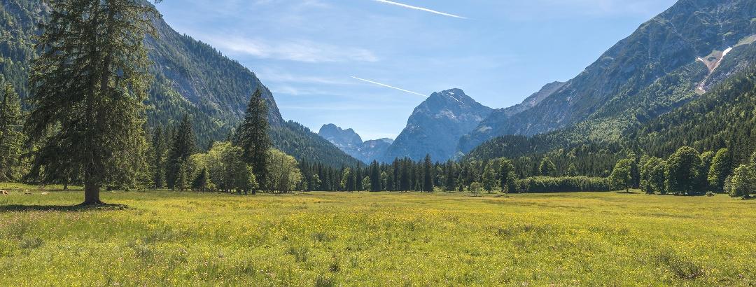 Naturpark Karwendel, Falzthurntal, Blick zum Sonnjoch