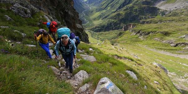 Aufstieg von der Leutschachhütte zum Leidseepass