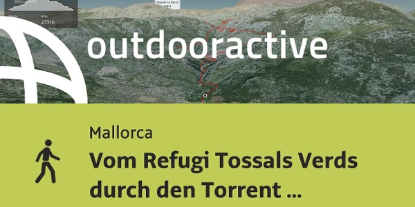 Wanderung auf Mallorca: Vom Refugi Tossals Verds durch den Torrent d'Almadrà