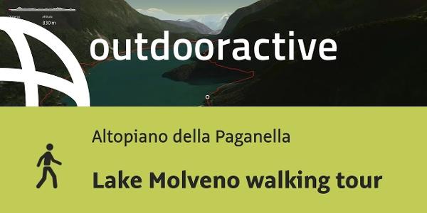 hiking trail in Altopiano della Paganella: Lake Molveno walking tour