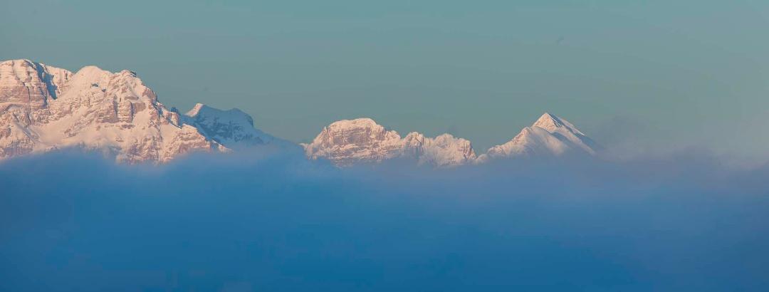 Vista sulle Dolomiti di Brenta da Cima Campantich
