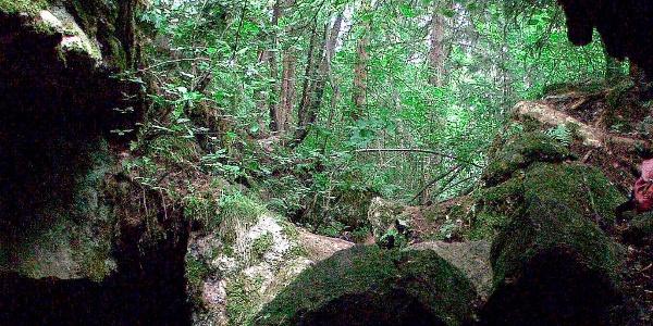 Torhola limestone cave in Lohja