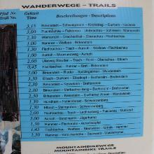 Tourenvorschläge an Bergstation angepinnt