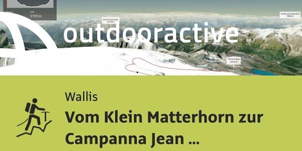 Hochtour im Wallis: Vom Klein Matterhorn zur Campanna Jean Antoine Carrel
